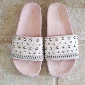 Jslides Nora Studded Slide Sandal